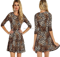 leopard dress women fashion summer leopard dress clothing manufacture Cheetah leopard dresses women