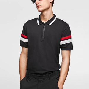 Faouen custom golf dry fit polo t shirt online shopping comfort color combination striped zip polo t shirts