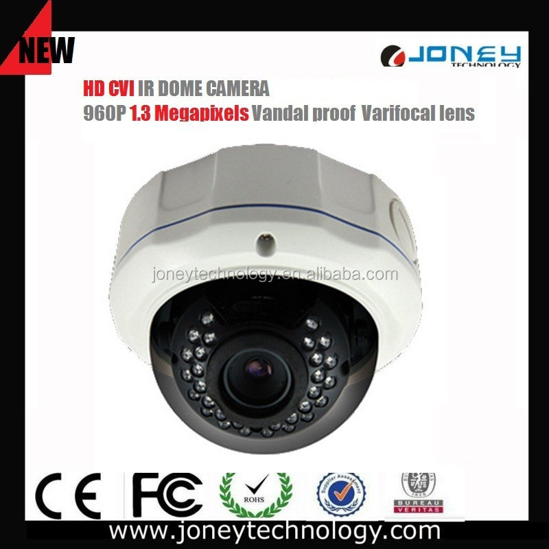1.0megapixel 720P Varifocal Vandal proof IR Dome HD-CVI CCTV Camera (JYD-V3227CVI-1.0MP)