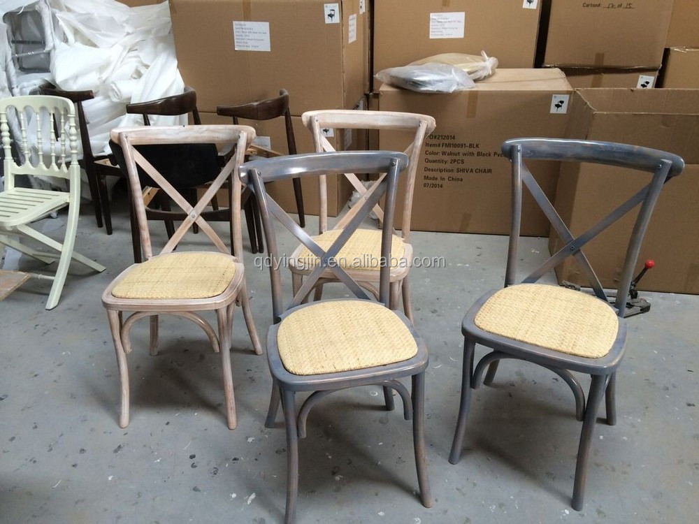 Vintage Chair Wood Cross Back Chair Cafe Chair For Sale And Rental