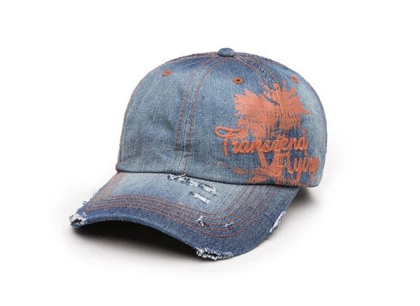 Popular Fashion New Embroidered jeans Baseball Hat
