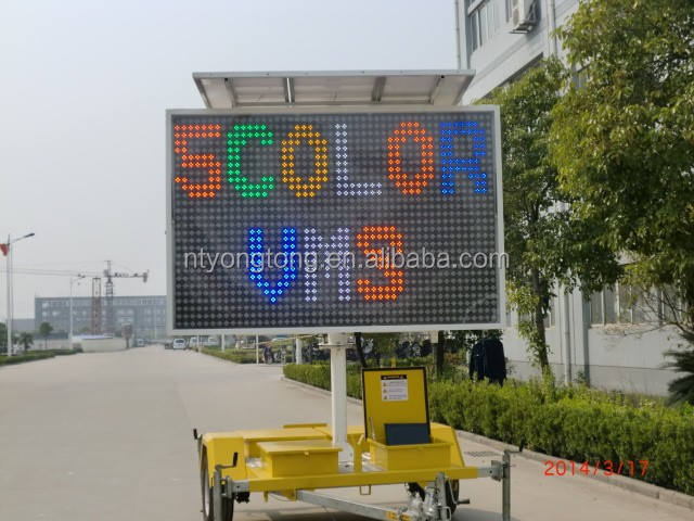 5 Color Trailer Mounted Variable Message Signs For Advertising ...