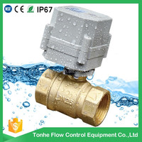 DN25 2 way IP67 1 inch mini motorized electric motor operated ball valve