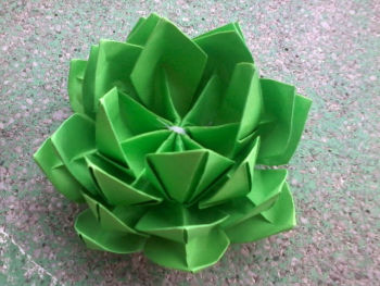 Green origami lotus buy origami flowers product on alibaba green origami lotus mightylinksfo