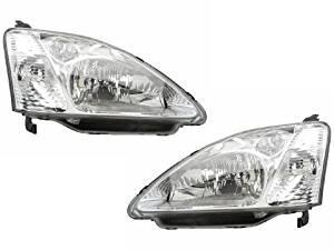 Honda Civic Hatchback New Replacement Headlights Set Headlamps Pair