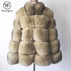 Tongxiang Feiya Fur Custom High Quality Saga Fox Fur Coat Finland Fur Jacket for Women