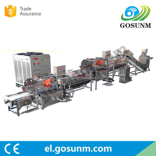 Fruits and vegetables washing , drying and weighing production line