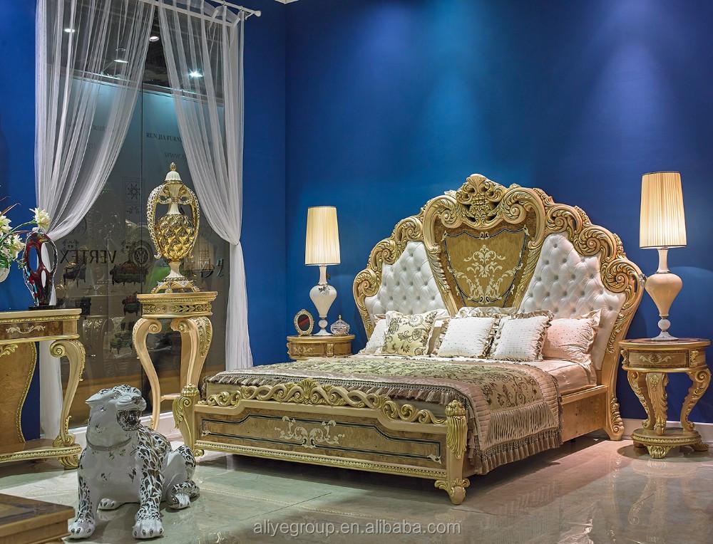 Aas620-cama De Madera Marcos Lujo Clásico Muebles Antiguos De Madera ...