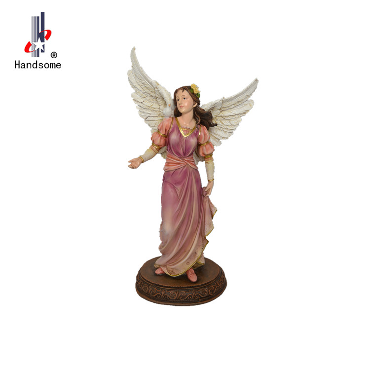 Resin sitting garden angel for Church Souvenirs.Christmas gift home decoration