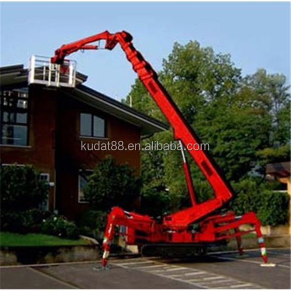 upright boom lifts(30M crawler Telescopic boom lift,diesel or electric  spider lift), View upright boom lifts, kudat Product Details from Wuhan  Kudat