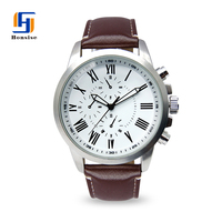 Hot Selling Men Style Japan Mov Genuine leather Watch