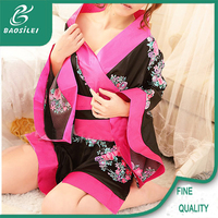 high-end japanese sexy cosplay costumes silk lingerie girl's kimono sexy