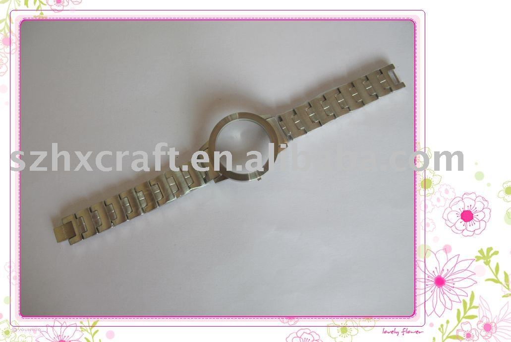 stainless steel watch case and watch strap