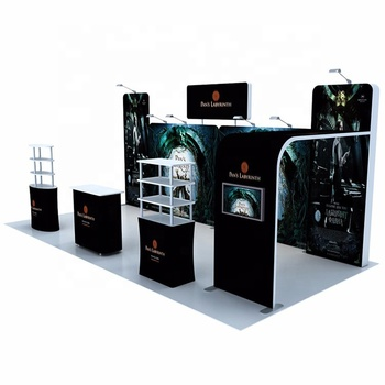 20*20 Portable Tension Fabric Display Booth Backlit Trade Show Display 10*10