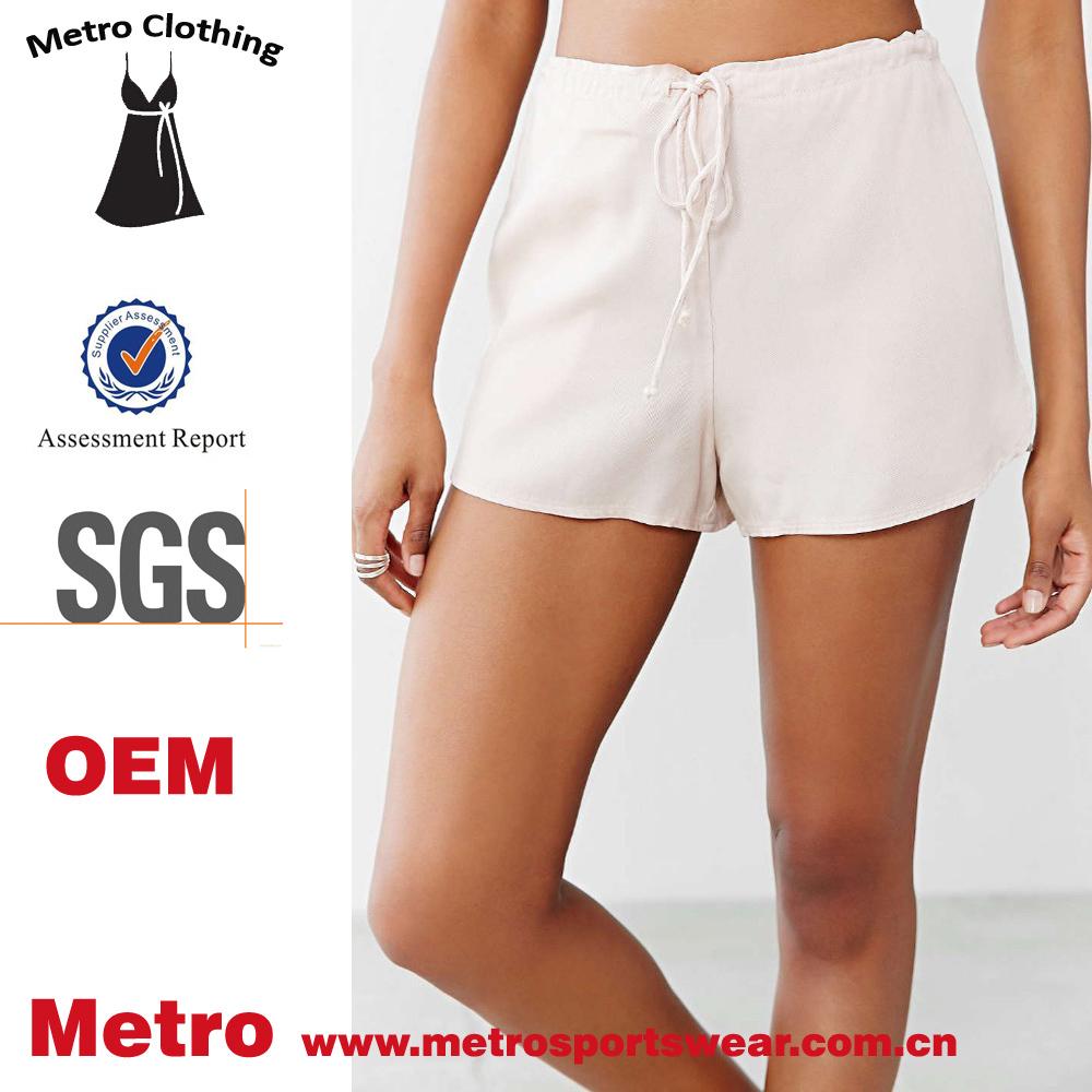 New Fashion Women Drawstring Flowy Rose White Super Shorts - Buy ...
