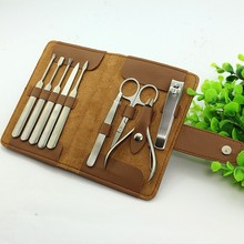 manicure set for man colorful 9pcs women manicure set leather case manicure bag bags pedicure