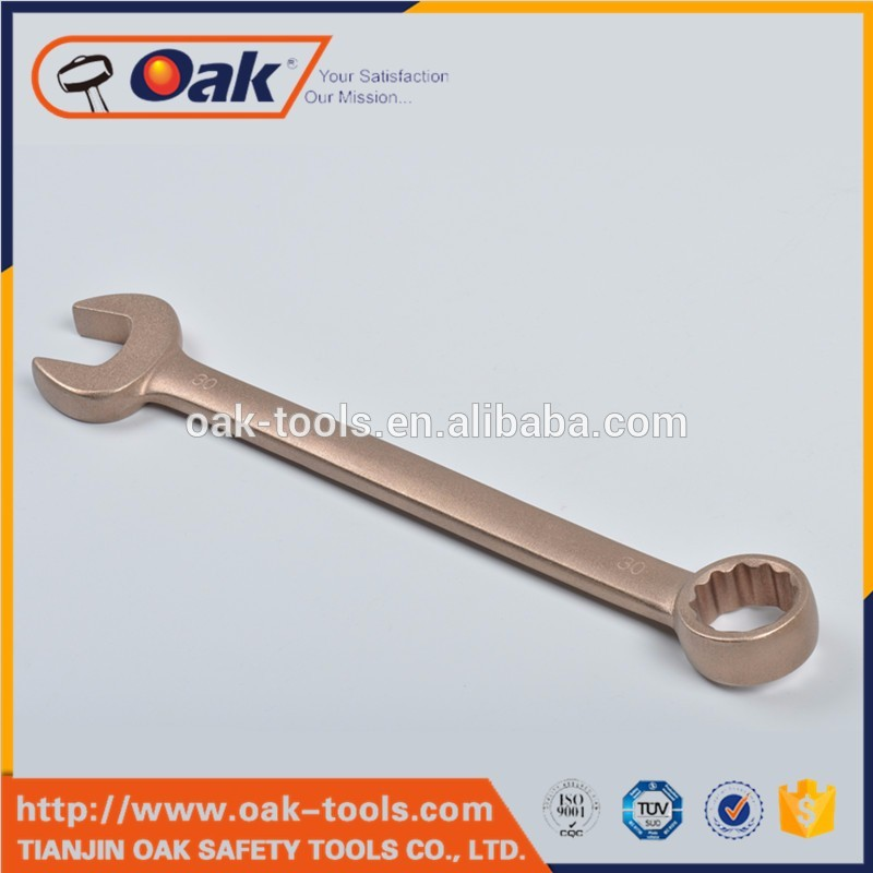 non-sparking beryllium copper imperial double open end wrench