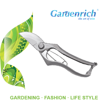 RG1123 Gardenrich garden bypass stainless steel pruning shears