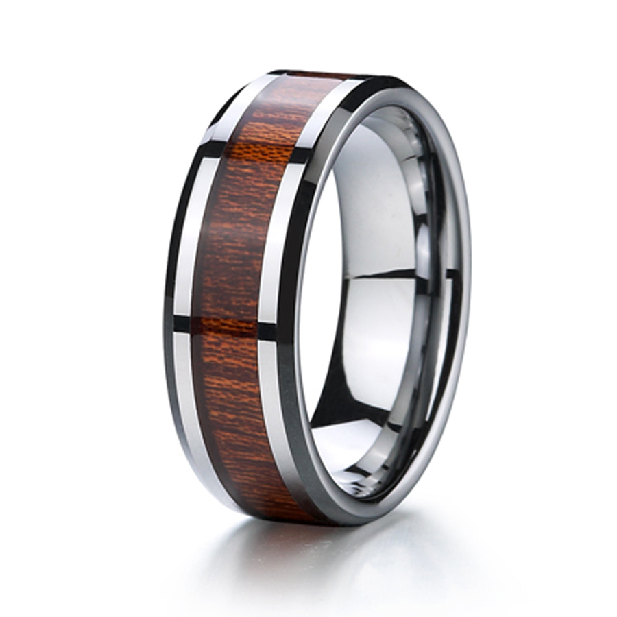 Get Quotations · Mens And Womens Titanium Wood Ring Jewelry: African Wood Wedding Rings At Reisefeber.org