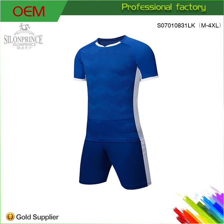 Sublimada Uniformes de Treino Profissional Profundo Azul do Futebol Jersey f48f305c97676