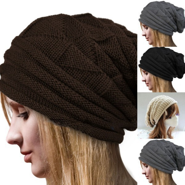 ... super popular 4d381 bad88 Wholesale-Knitted Hats for Men Women Baggy  Beanie Oversize W ... 4373a3d7300b