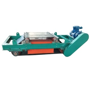 permanent dry overband conveyor cross belt magnetic separator
