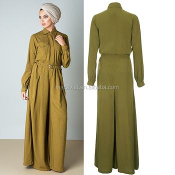 65a4d2f68c69 Latest women ladies abaya loose fitting muslim jumpsuit burka long islamic  clothing