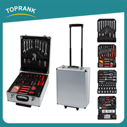 High quality 599pcs germany design hand tool sets combination household trolley tool set