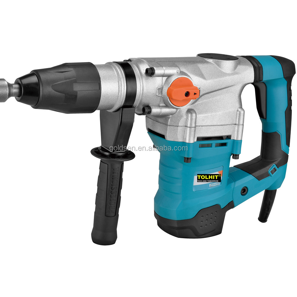TOLHIT SDS MAX 110-240v 40mm 1600w Power Rotary Hammer Chisel Drill Electric Hammer