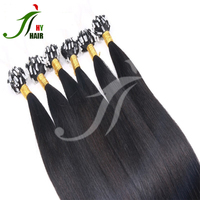 Wholesale 100 Keratin Tip Human Hair Extension Best Selling Brazilian Micro Ring Loop Hair Extensions