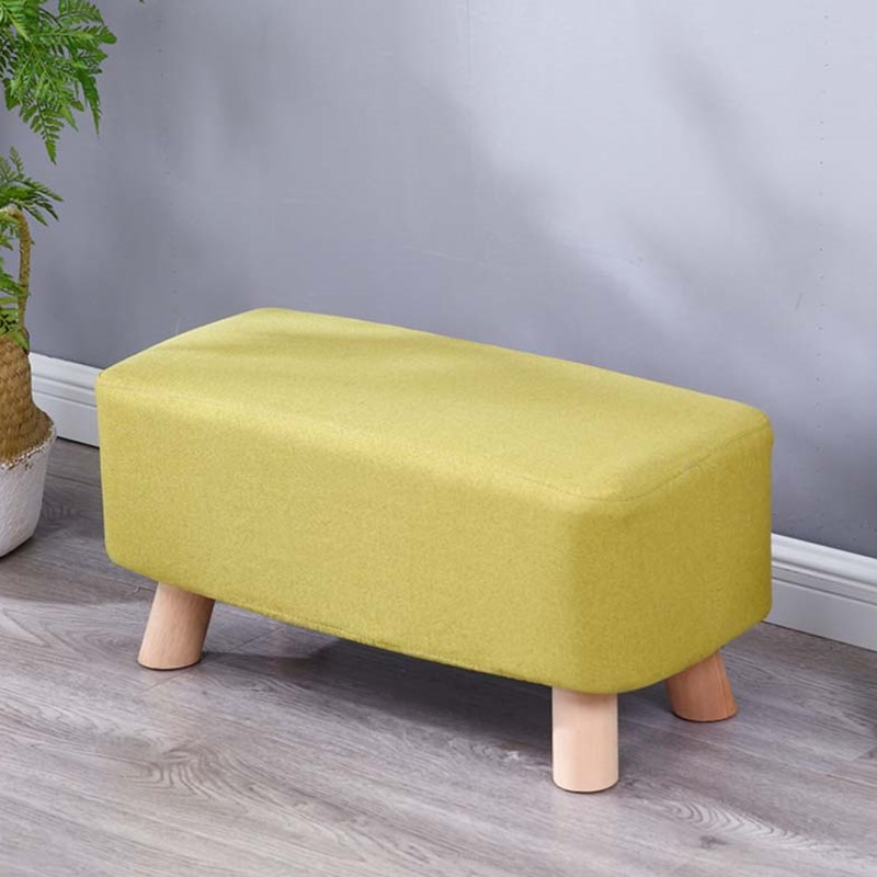Children Chairs Furniture Living Room Stool Fashion Creative Solid Wood Adult Stool Square Stool Makeup Stool Bench Home Bench Skilful Manufacture