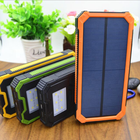 Factory Waterproof 20000mAh Solar Power Bank with Strong Camping Light Outdoor SOS Solar Charger 20000mAh with Lanyard