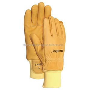 [On Sales] CE Cowgrain Heat Resistant Firefighter Glove/EN 659 Standard - 7992
