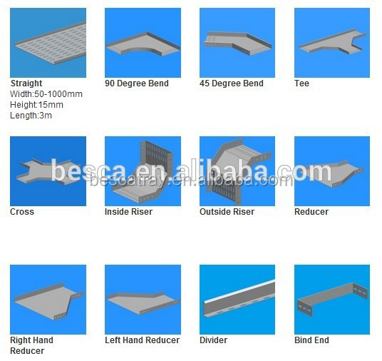 High Quality Perforated Steel Cable Tray Sizes Buy