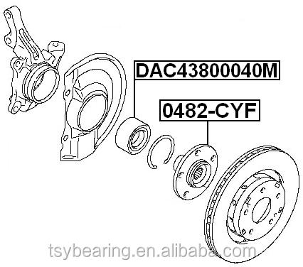 Front Wheel Bearing 43x80x40 Dac438040 Dac43800040 Dac 43800040