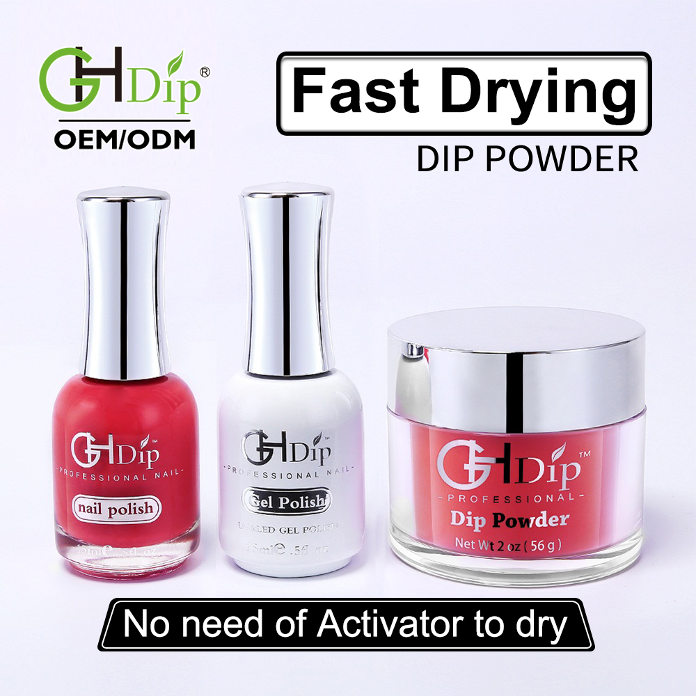 Fast Drying Nail Dip Powder Color 3 in 1 set Perfect matching Gel Polish  and Nail Lacquer, View DIP POWDER MATCH GEL POLISH, OEM CUSTOM YOUR LOGO