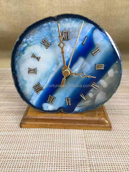 Unique Luxury Agate Decorative Table Clocks