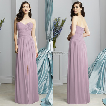 2015 Light Purple Long Bridesmaid Dress Sweetheart Full-length Criss ...