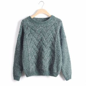 Pullovers Plaid Thick Knitting Mohair Female Loose Variegated Latest Design Winter Sweaters Women
