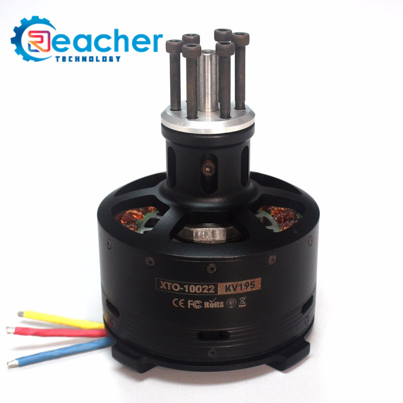 High torque outrunner 10-14S 195/165 KV brushless electric dc motor 4000w for airplane