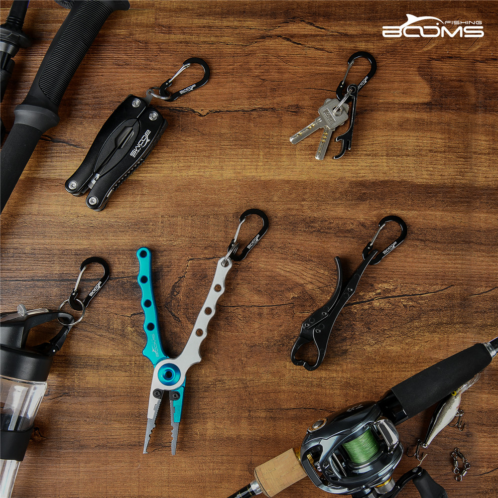 Booms Fishing CC1 Multi-Use Aluminium Clip Hanger Gear Carabiner with 6 Pack