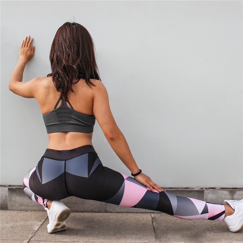 Fashion new design custom high quality fitness high waist yoga leggings women colorful yoga pants