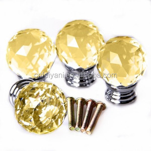 top level chrome plated crystal handles and knobs