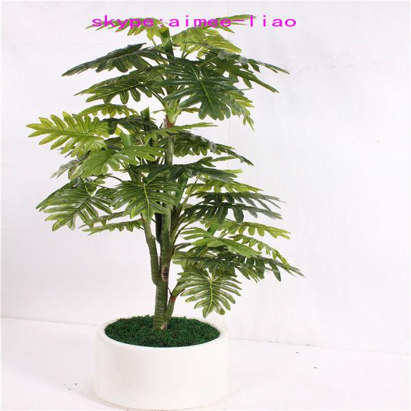 Q090401 Ornamental Indoor Plants Fake Philodendron Selloum Bonsai Artificial Plant Buy