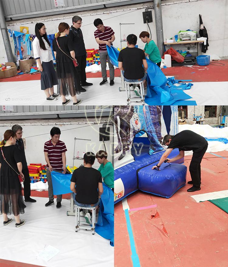 Kids amusement waterpark aqua park opblaasbare glijbaan met zwembad voor verkoop