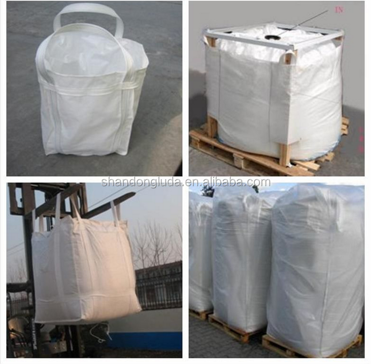 PP ton bags for food and sand jumbo 1000kg Skirt Top Bulk Bag
