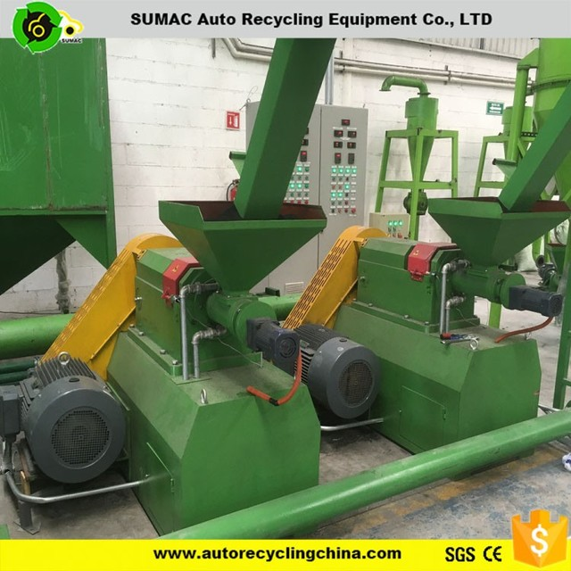 crumb rubber machinery double disc rubber mill