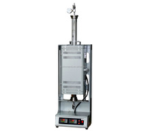 "Compact 1200C two heating zone vertical tube furnace with 1"" quartz chamber"