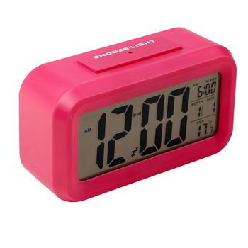 Optically Controlled Liquid Crystal Device Alarm Clock Battery Operated Smart Backlight Digital Alarm Clock for Students
