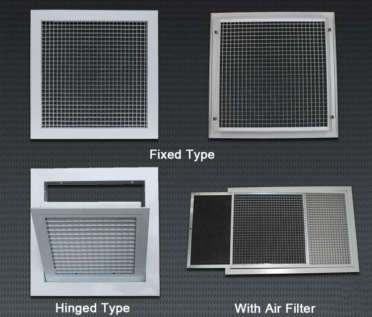 Hvac Air Conditioner Aluminum Ceiling Wall Decorative Return Supply Egg Crate Air Diffuser Air Grille Buy Ceiling Air Conditioner Grille Decorative